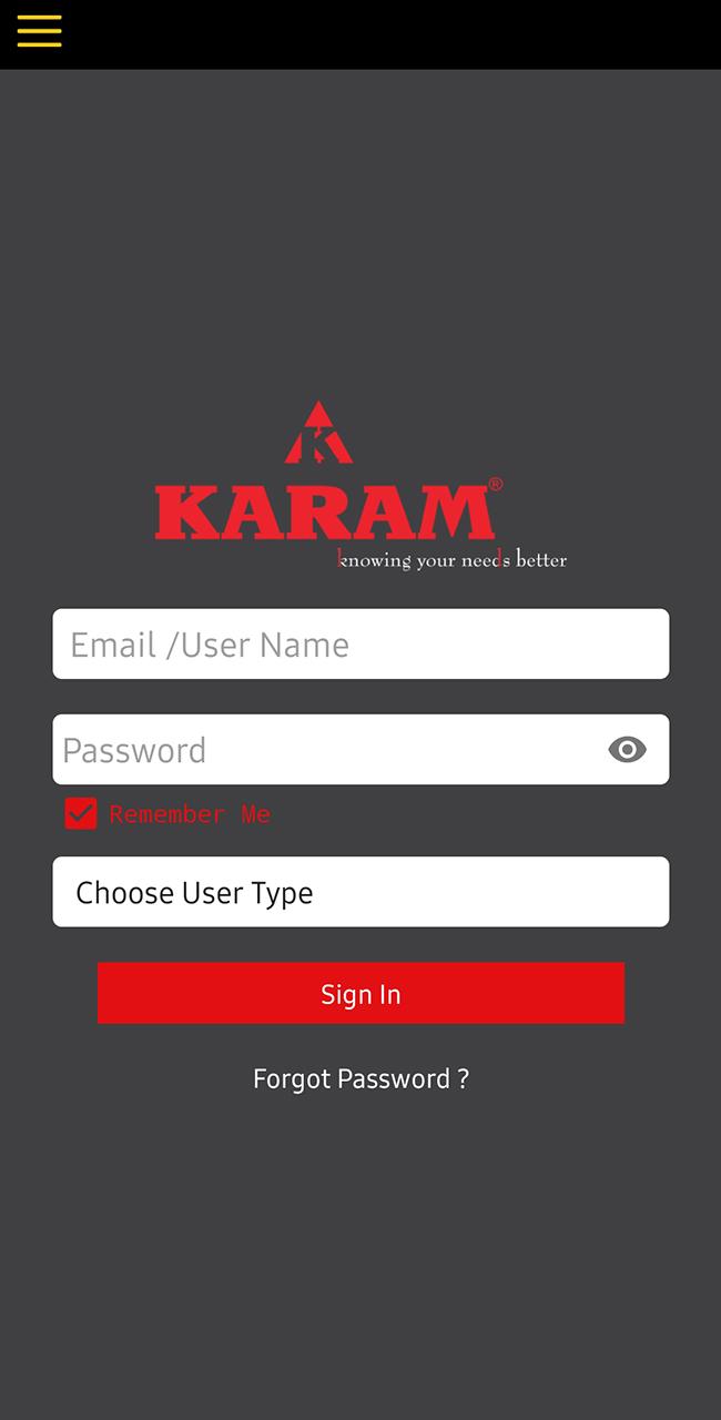 mobileApp-karamTraining